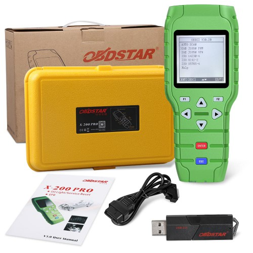 [Happy New Year] OBDSTAR X-200 X200 Pro A+B Configuration for Oil Reset + OBD Software + EPB