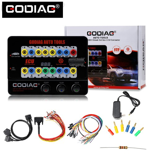 [Anni Sale €87] GODIAG GT100 AUTO TOOLS OBD II Break Out Box ECU Connector Ship from UK