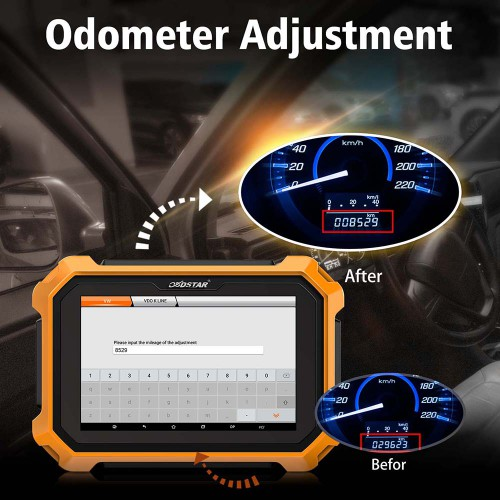 [UK/EU Ship No Tax] OBDSTAR X300 DP PLUS C Package Full Version Powerful Immo & Mileage With Free Renault Conventor and FCA 12+8 Adapter