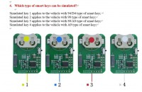 OBDSTAR for Toyota smart key Emulator 4PCS work with X300 DP PLUS